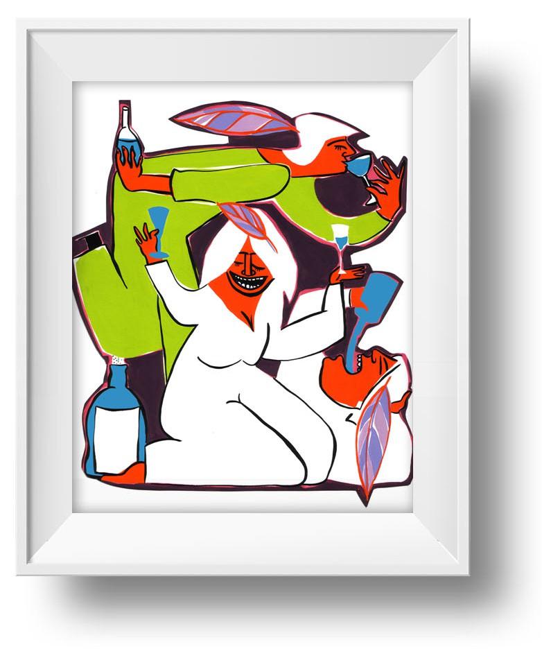 Ilustracion A beber Azul