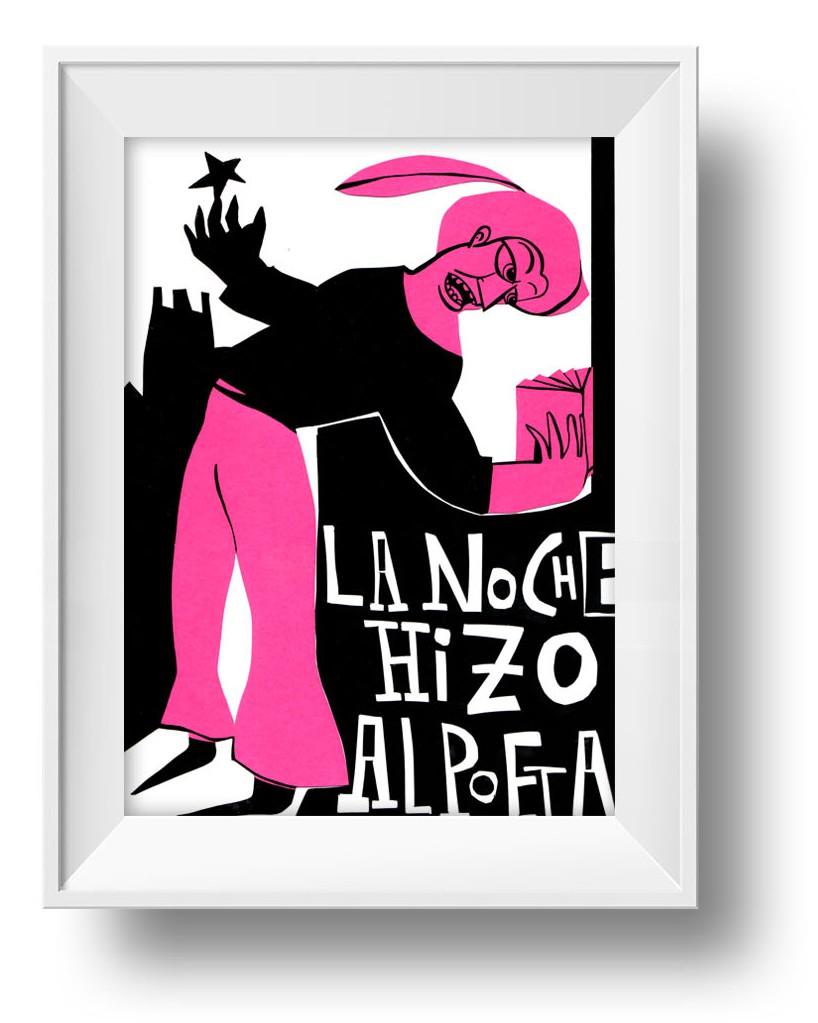 Ilustracion La noche hizo al poeta