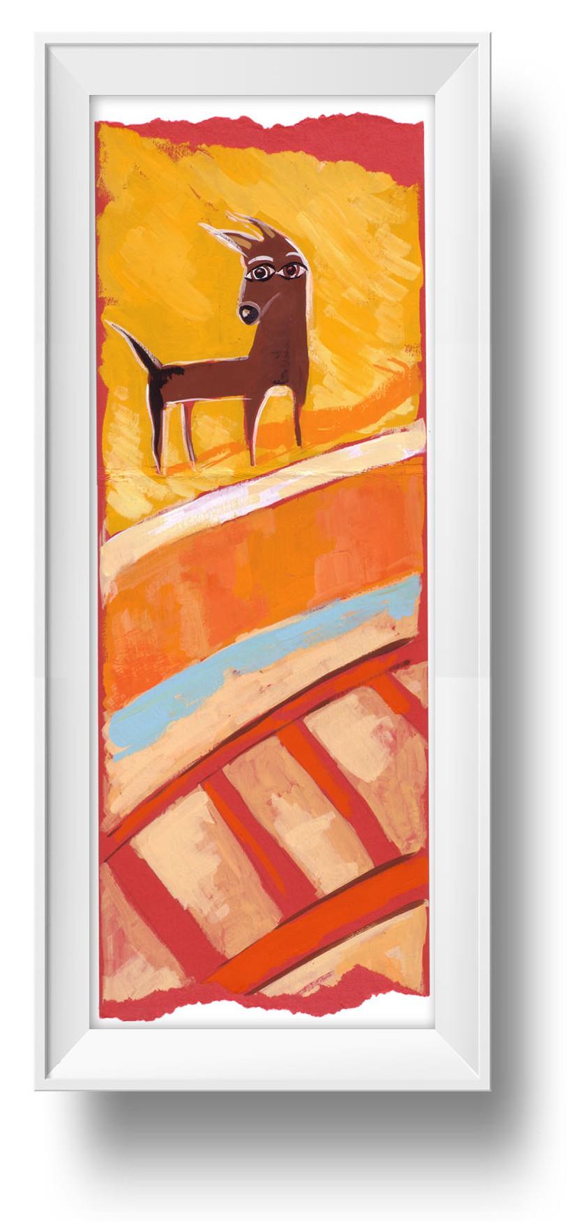 Ilustracion Mira el perro al Talgo