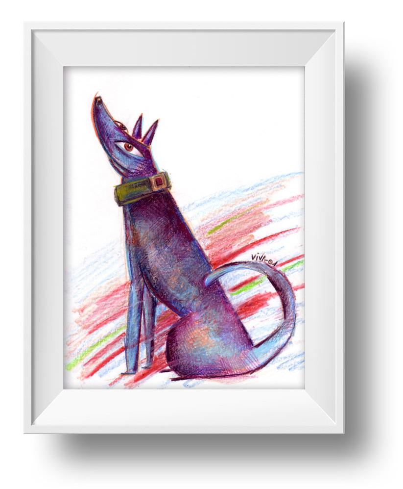 Ilustracion Perro Listo