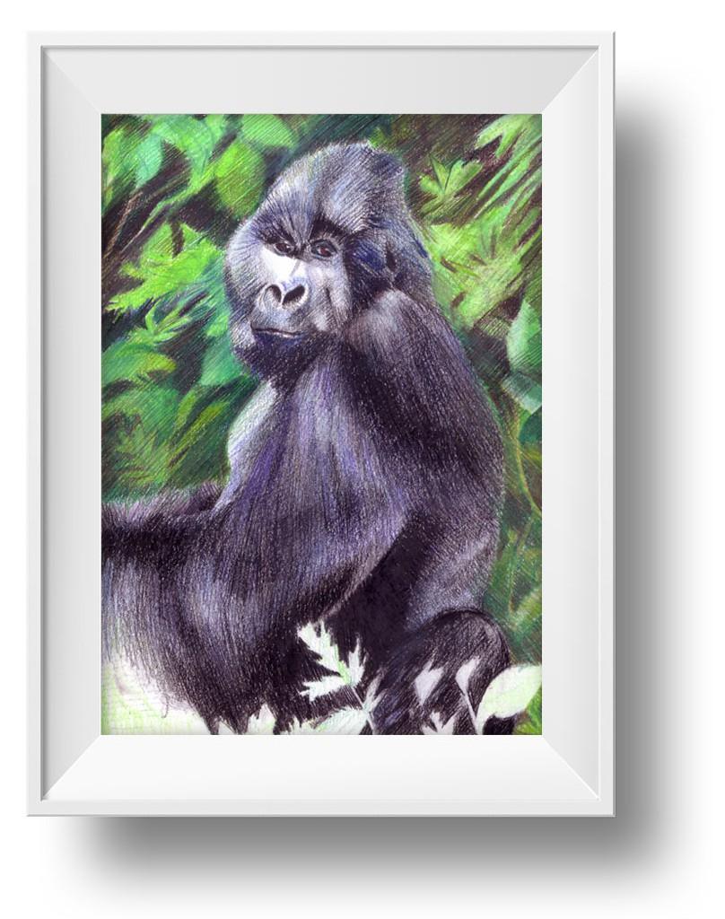 Ilustracion gorila