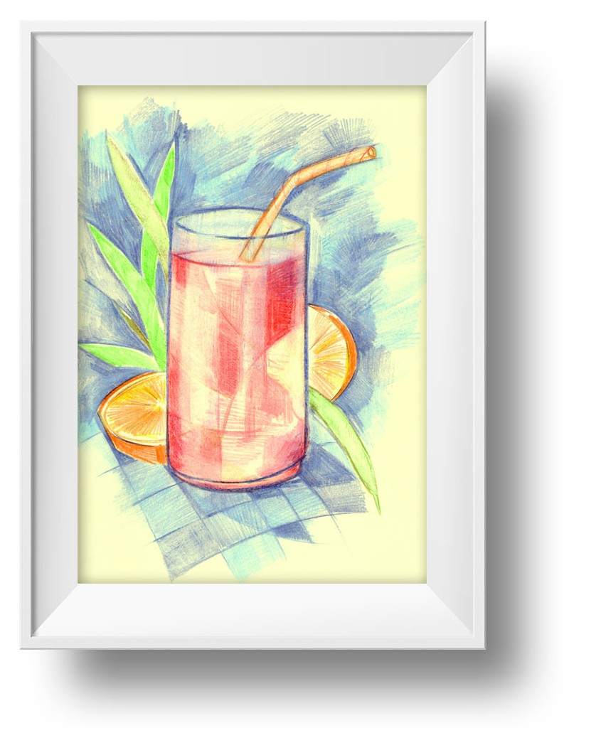 Ilustracion zumo de Verano