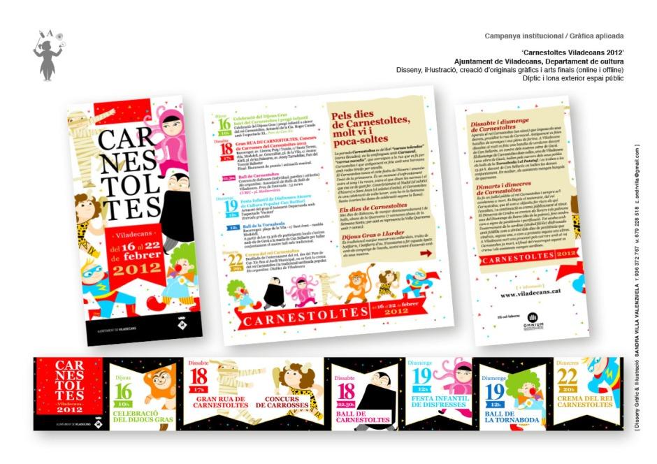 Diseño gráfico e ilustración 'Carnestoltes Viladecans'