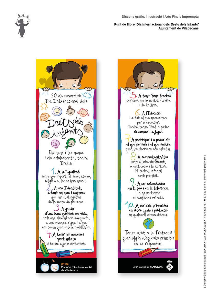 Punt de Llibre Dia Internacional dels Drets dels infants