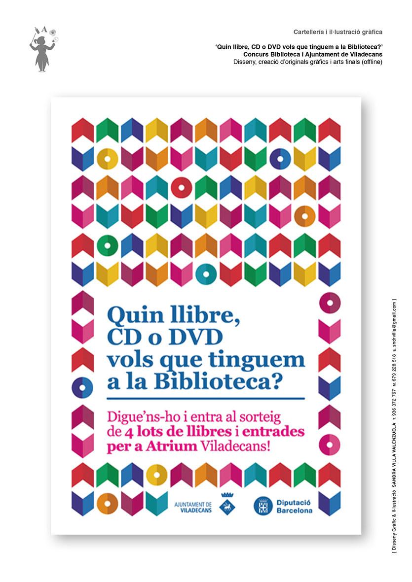 Diseño gráfico 'Cartell Biblioteca Viladecans'